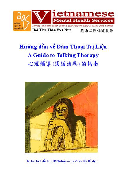 A Guide To Talking Therapy Vn Cn